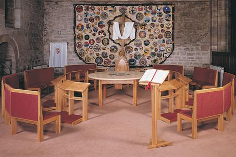 Chairs, kneelers, lectern and tables, St Paul's, Leominster