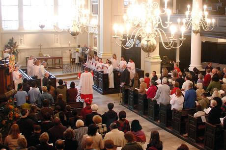 Choir during service at St. Martin-in-the-fields