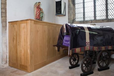 Cupboards to hold folding tables, All Saints, Winterton