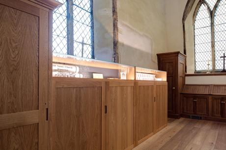 Display cases and storage cupboards, All Saints, Winterton