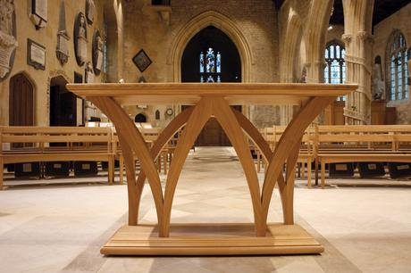Solid oak altar, Holy Trinity, Bradford on Avon