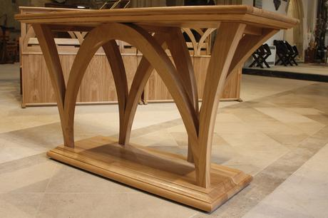 Bespoke solid oak altar, Holy Trinity, Bradford on Avon