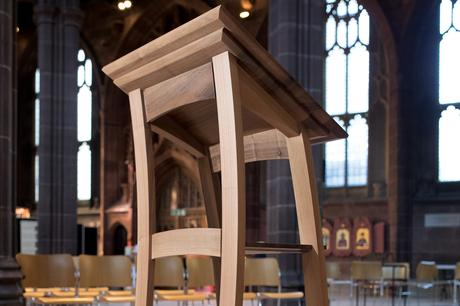 Close up of lectern from front, Manchester Cathedral