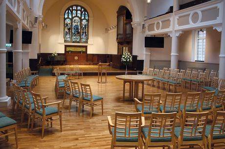 Wesley Methodist Church communion table, lectern and chairs