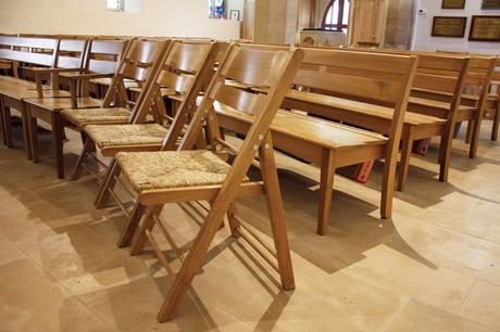 Seating comprises a mixture of St Mary's chairs and benches and St Nicholas folding chairs for maximum flexibility