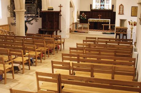 St Mary's benches and chairs in the nave at St John the Evangelist