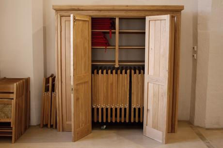 Storage cupboard for St Nicholas folding chairs