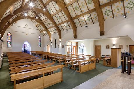 St Joseph's Stokesley view of seating from sanctuary