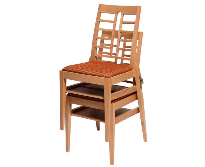 Modern Stacking Chair - Upholstered