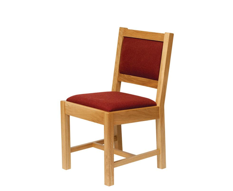 Bespoke Church Chair With Upholstered Seat And Back