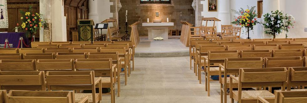 Bespoke stacking chairs for St Giles, Pontefract