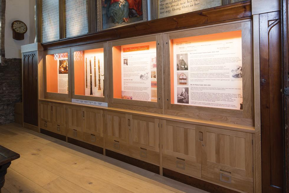 Exhibition Display Cabinets : Bespoke church display cases form treske