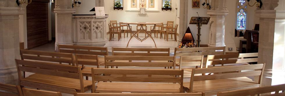 Stacking Benches & Chairs, Altar, Holy Trinity, Prestwood