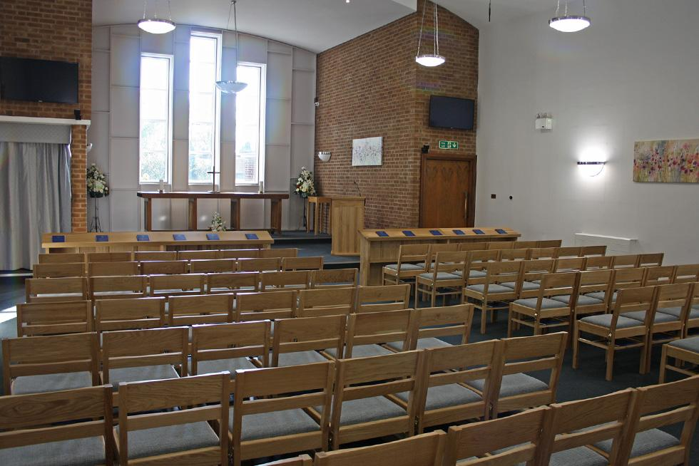 Chesterfield crematorium treske church furniture for Creek wood motor company
