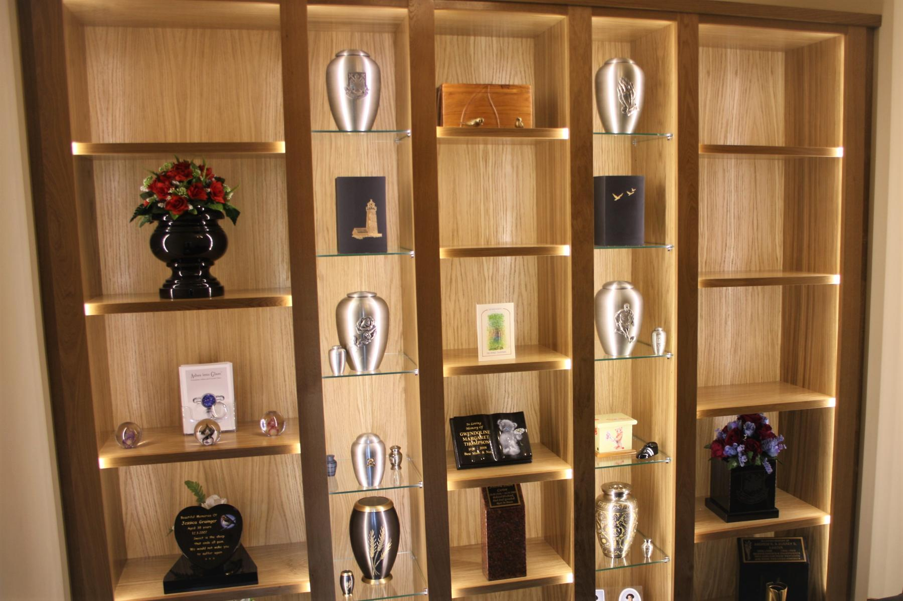 Crematoria display shelves2