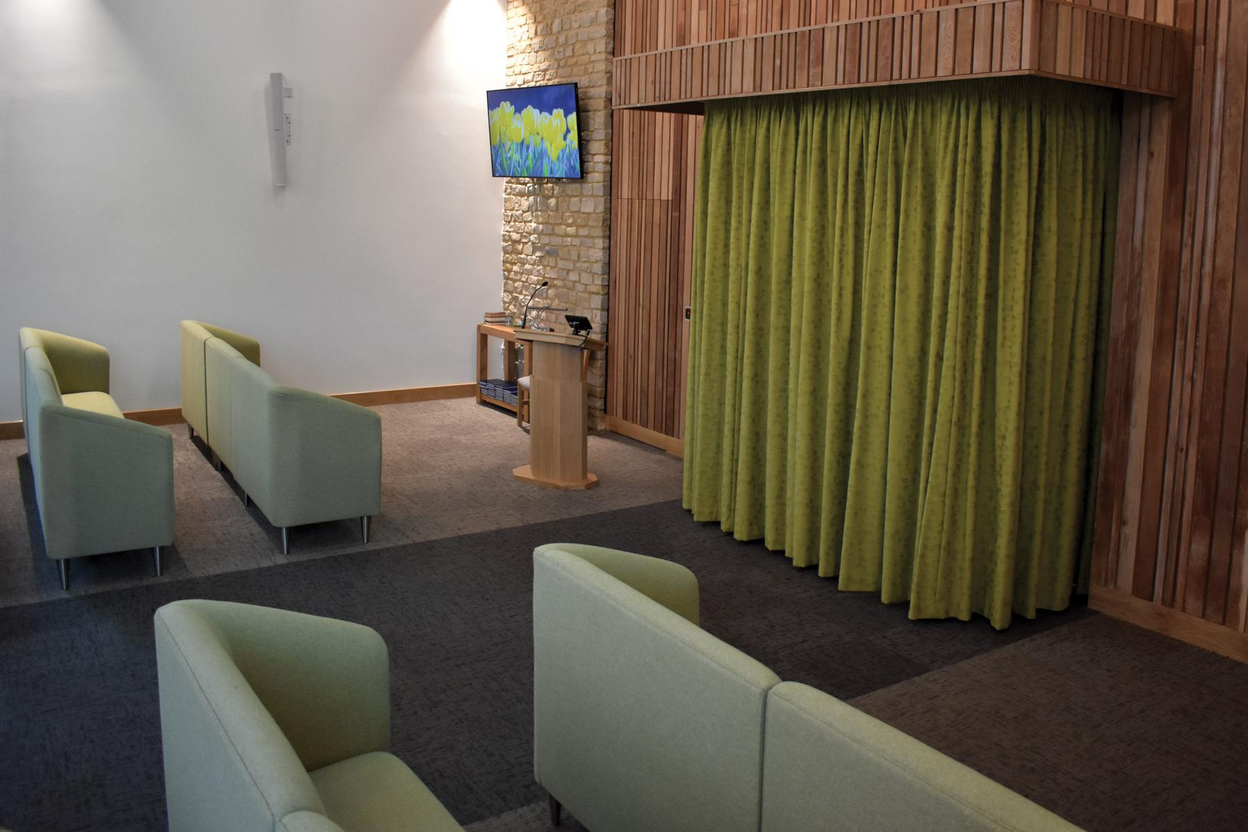 Cheltenham Crematorium curtains