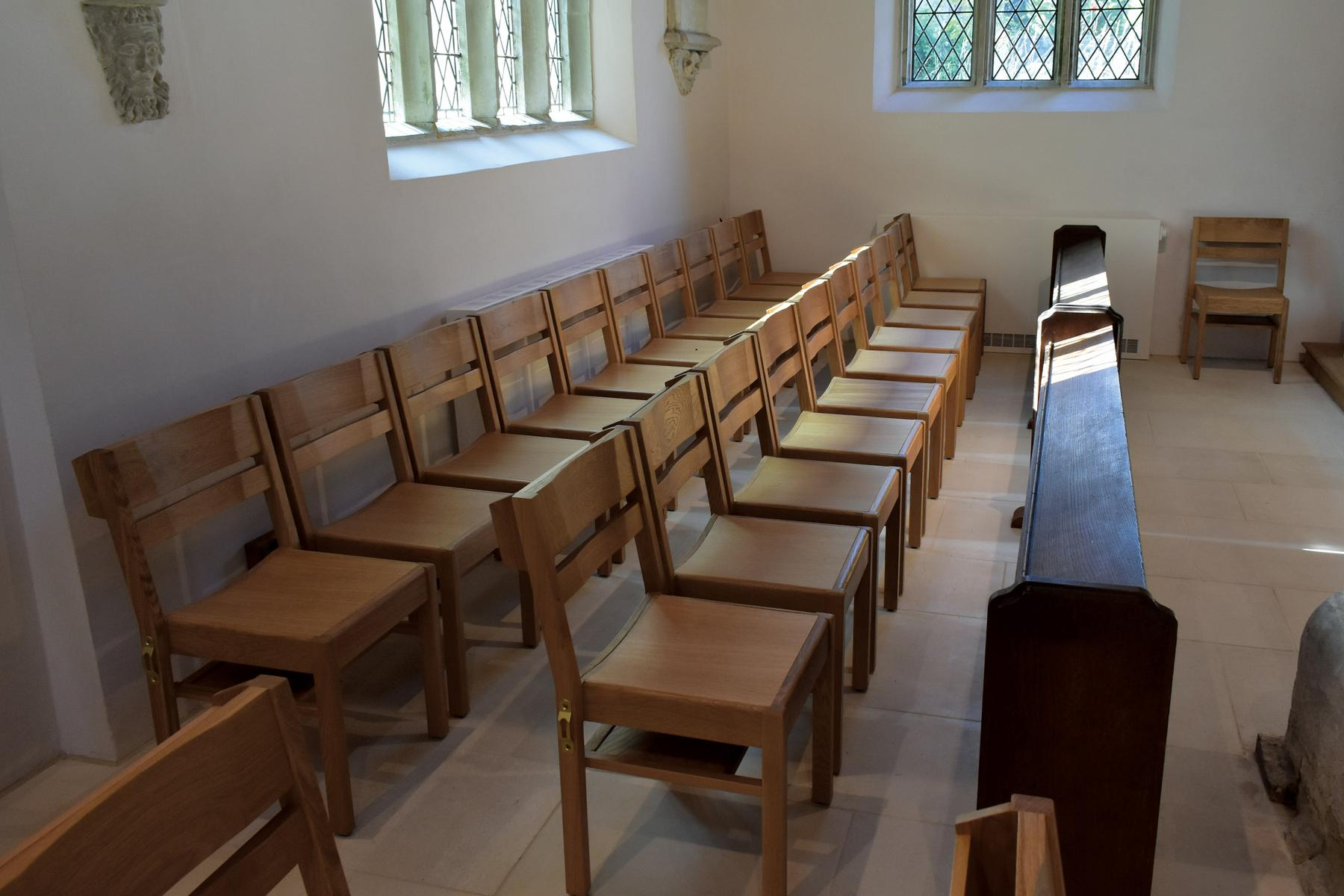 St Andrew's, Donhead St Andrew chairs